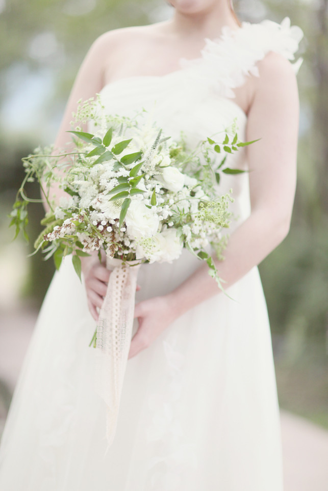 Bridal Bouquets Denver - White and Green