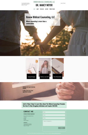 Private Counseling Website
