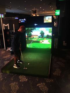 Mini Golf simulator hire event