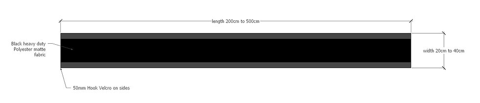 Black skirting baffles for impact screens