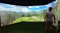 Triple Screen Golf Simulator