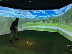 Surround golf simulator
