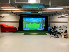 Basement Golf simulator