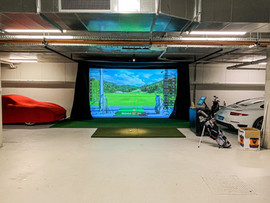 Basement Golf simulator