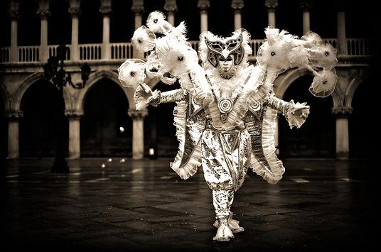 White Pierro. Carnival costume for the carnival of venice, italy. Carnival costume created and developed by Bruno Villaça for participant in the Venice Carnival.