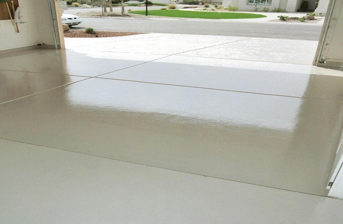 White Garage Floor - Houston TX