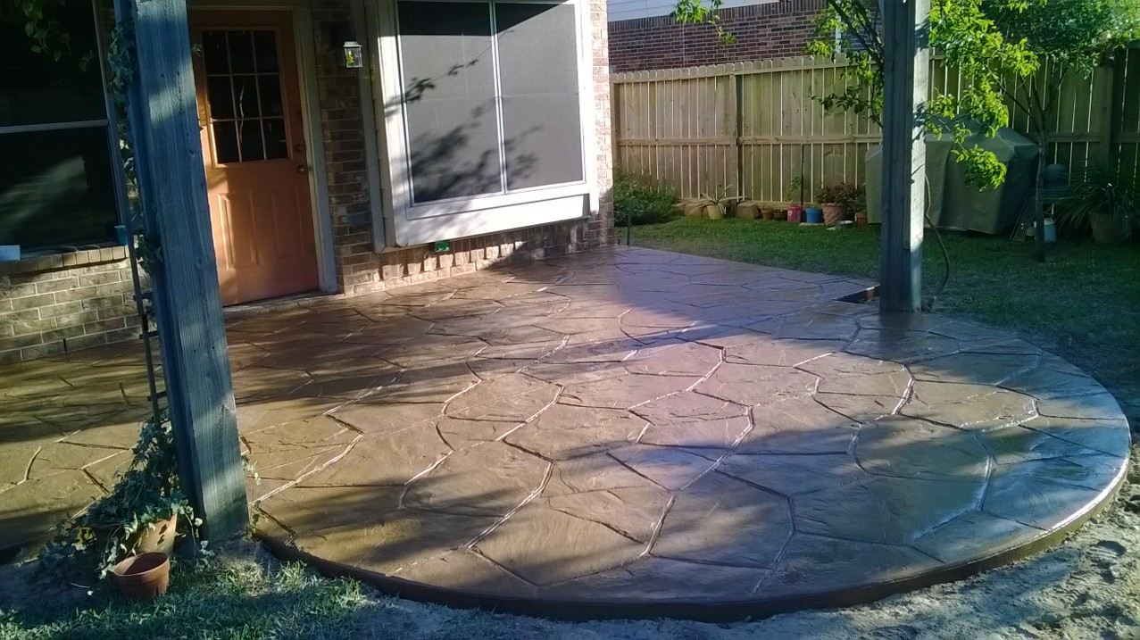 Stamped Patios in Cypress TX