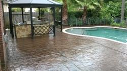Stamped Concrete pool deck restored