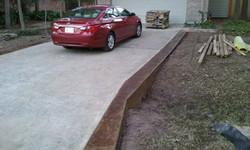 Stamped Concrete Borders - Houston