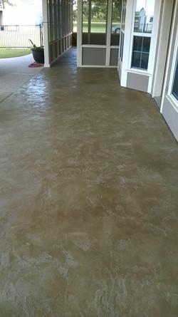 Pool Deck Concrete Overlay - Houston