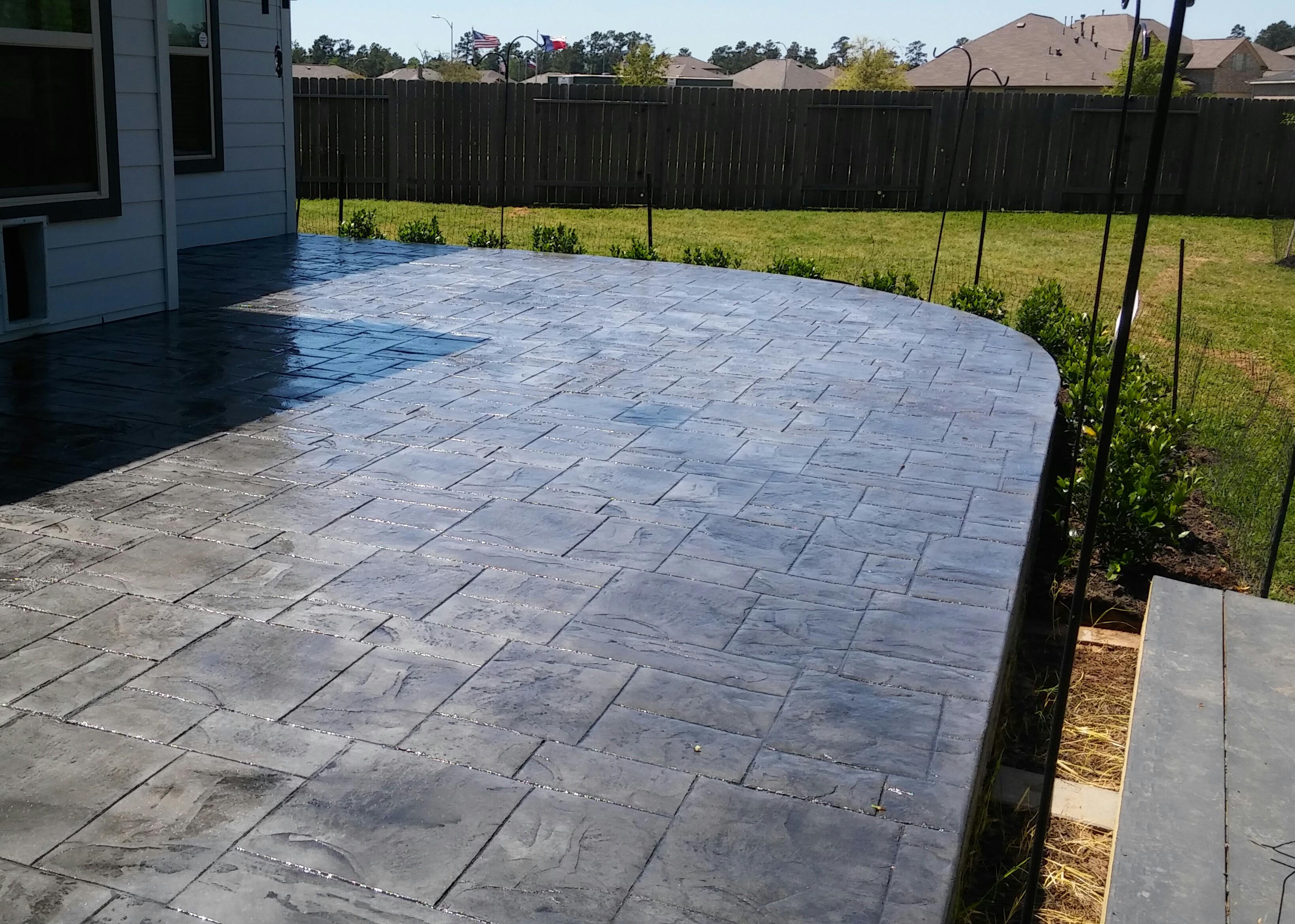 Pattern concrete Patio - Houston TX