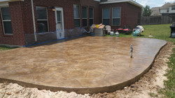 Rustic Flagstone Stamped Concrete TX