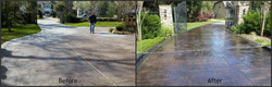 Stamped Concrete Driveway Restored