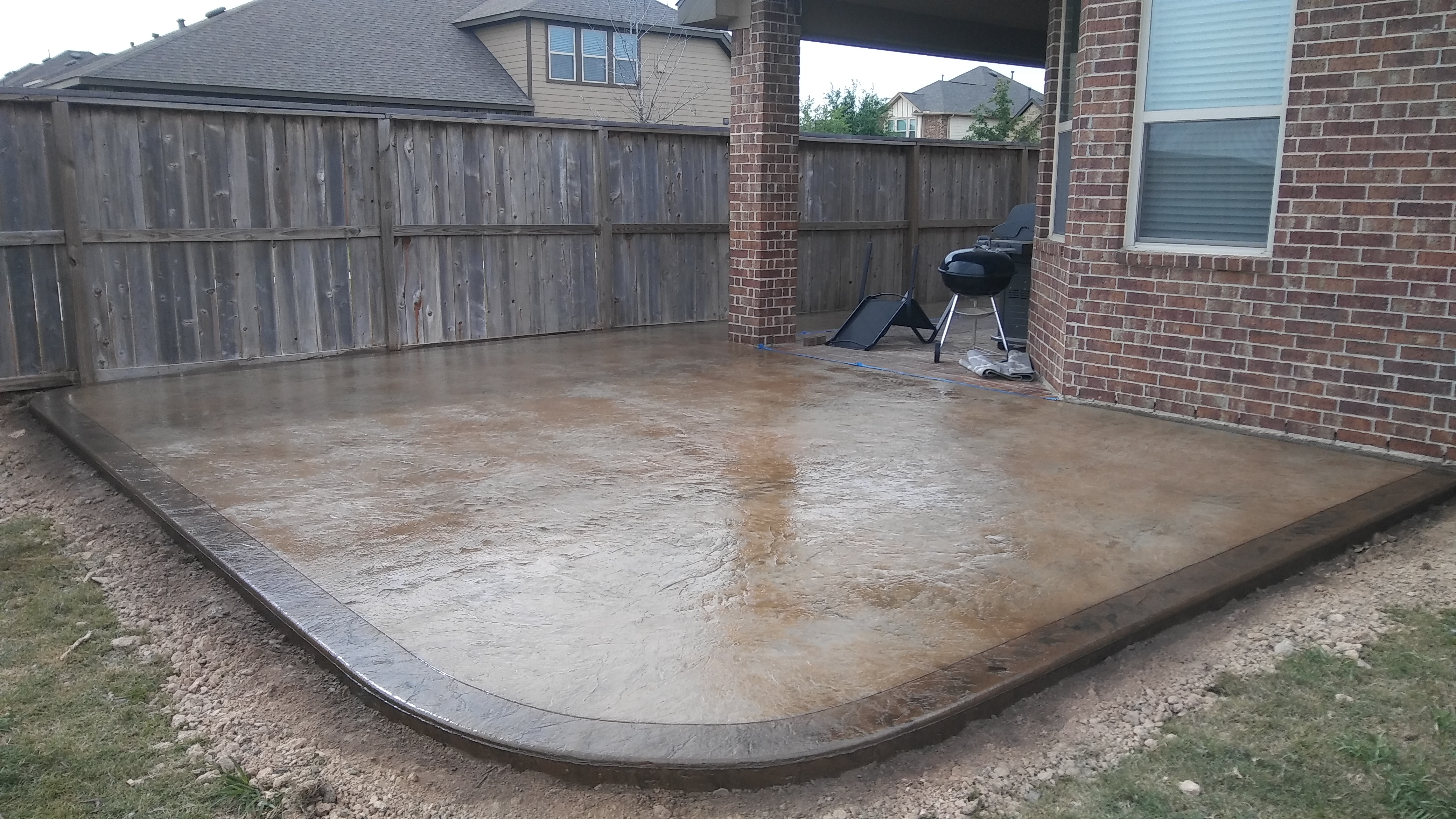 Stamped Concrete with Border
