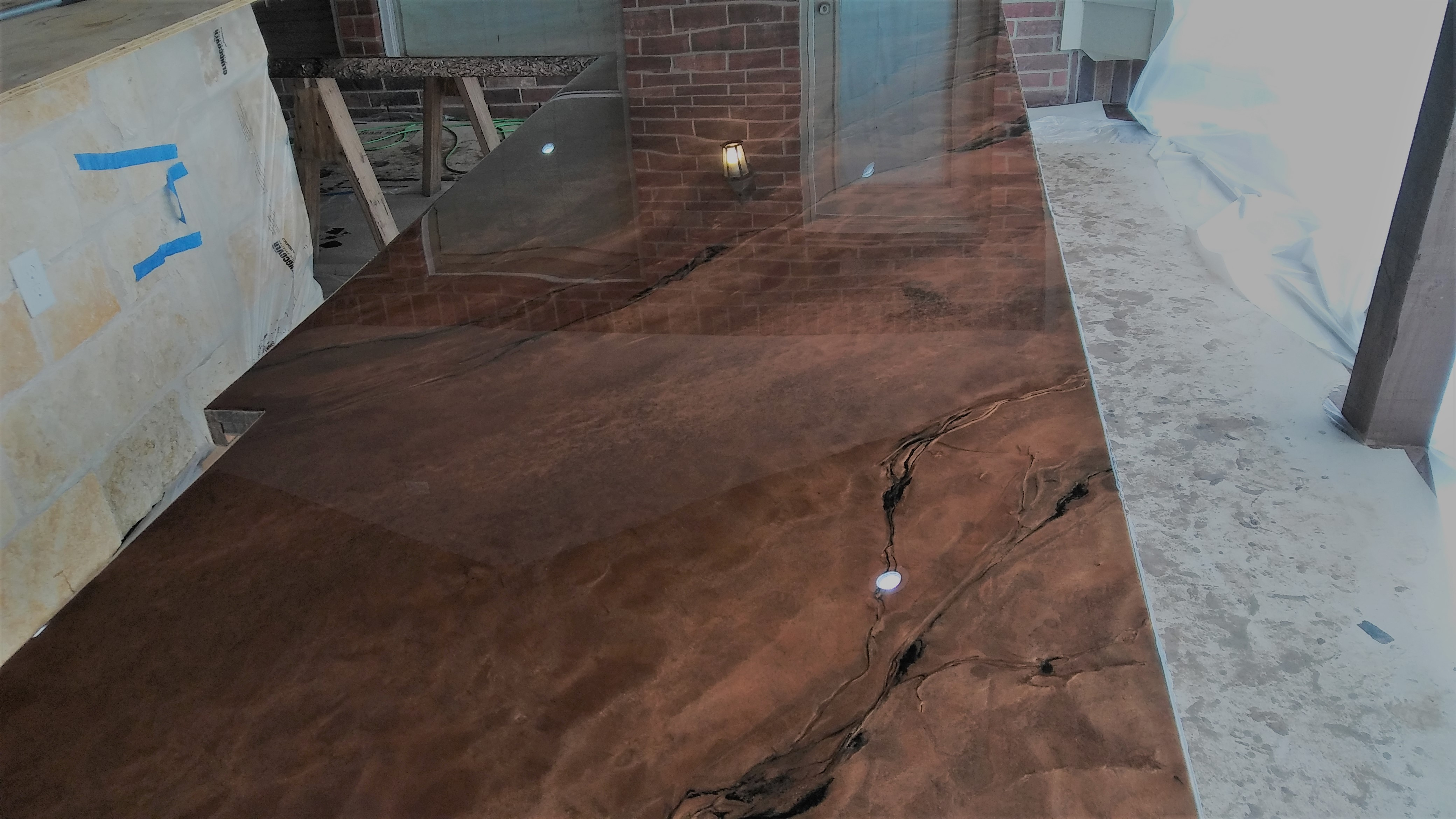 Copper Marble Epoxy Countertops - Houston TX