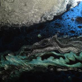 Bright Blue Abstract Art - Houston TX