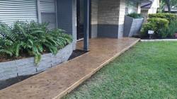 Stamped Concrete Front Porch - TX