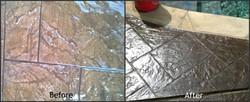 Stamped Concrete Color Restoration - Houston TX