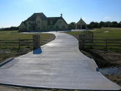Spring Luxury Home Driveway install
