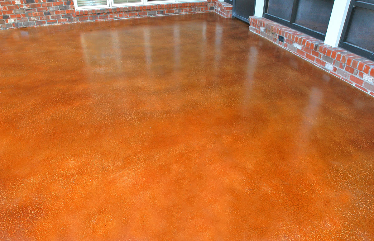 Stained Concrete Floors - Houston