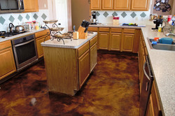 Old World Stained Concrete - Cypress TX.