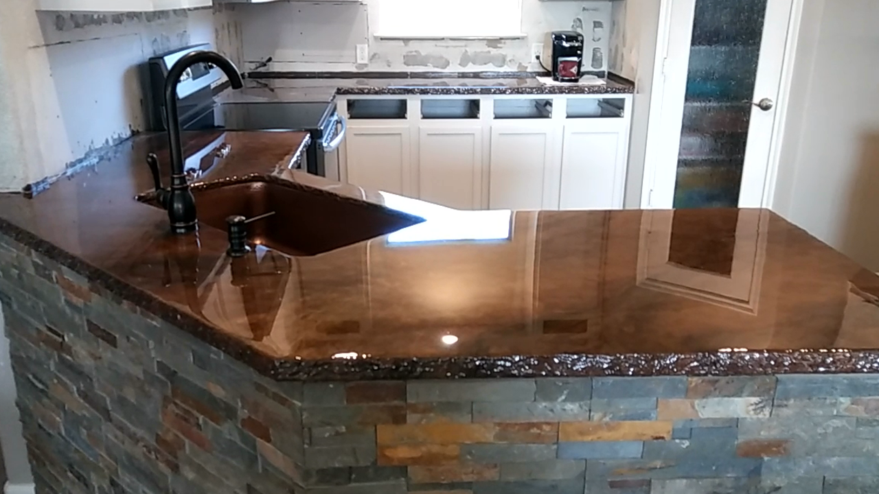Rustic Epoxy Countertops - Cypress