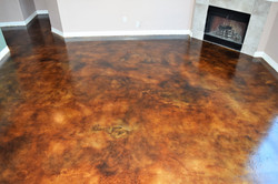 Rugged Stained Concrete Flooring - Cypre