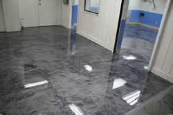 Metalic Marble Stained Floor