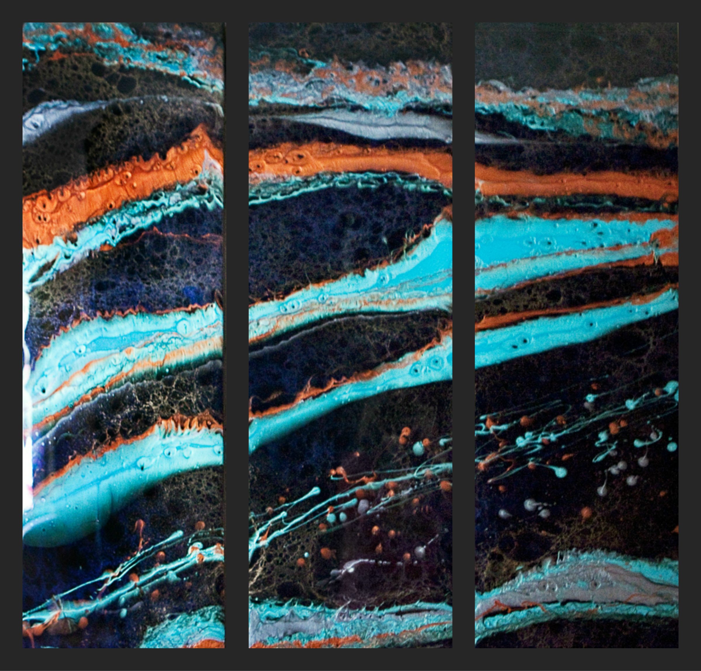 Hosuton Abstract Art - Triptych