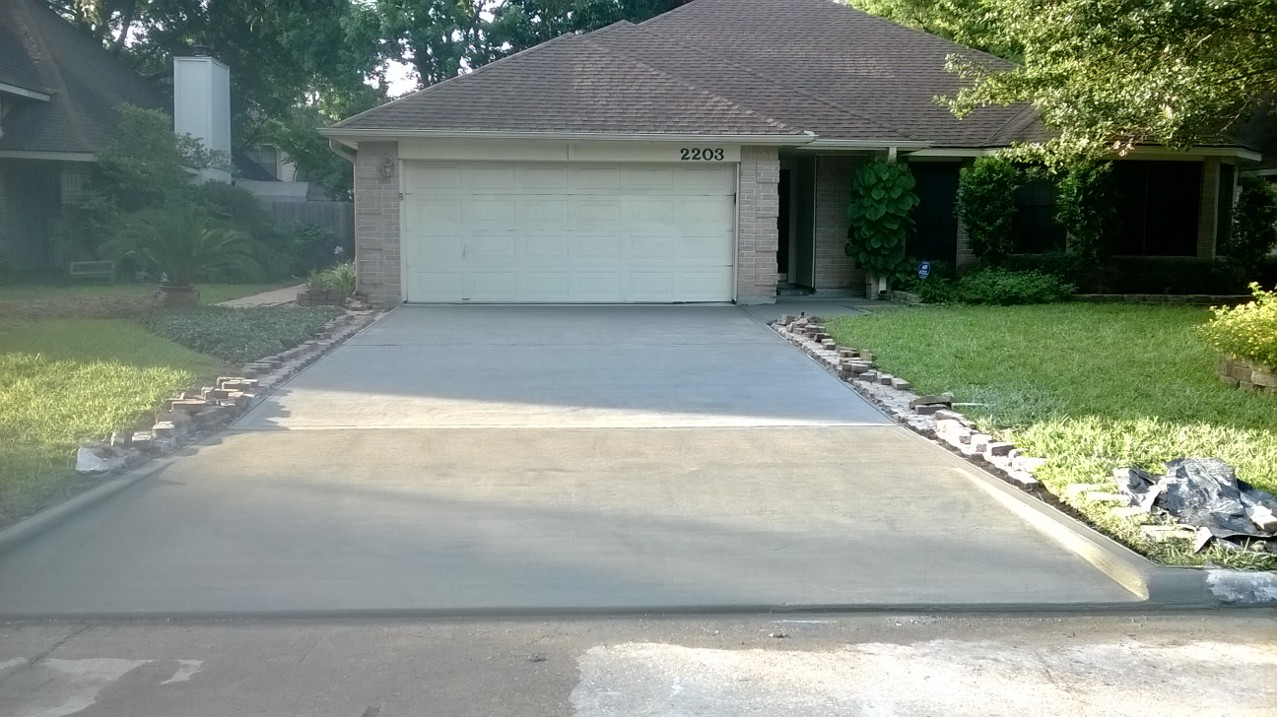 Driveway Demo and Replace - Hosuton