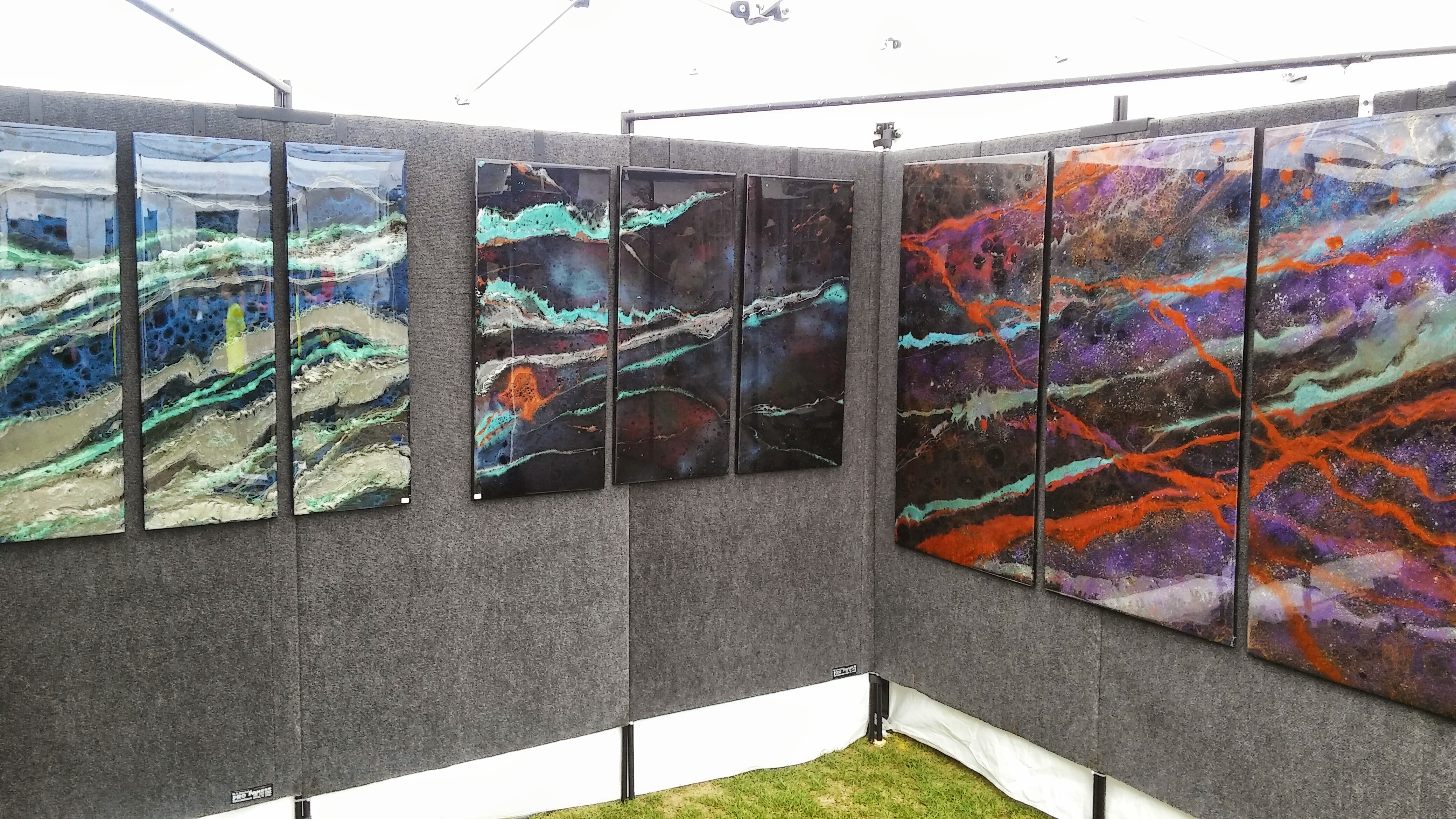 Abstract Artists Display -Woodlands