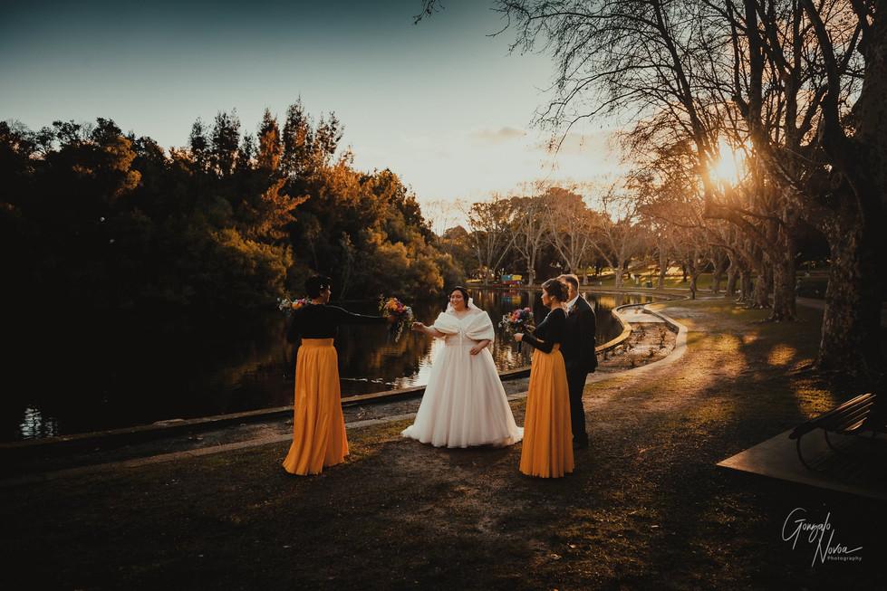 Perth Wedding Photographer, Wedding Portraits - Gonzalo Novoa Photography at Hyde Park, Perth WA