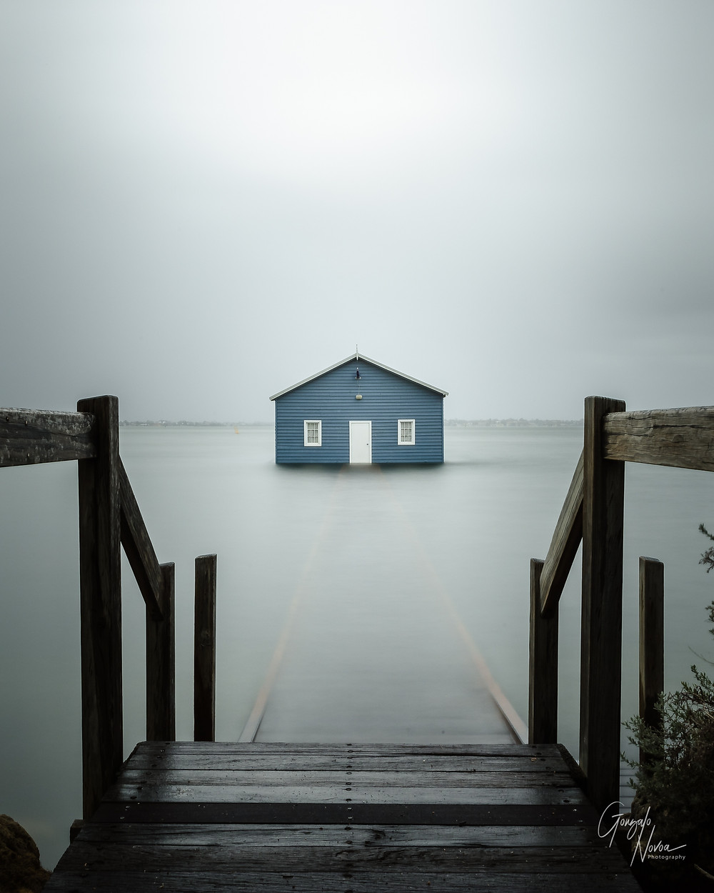 Crawley Edge Boatshed in Perth, Western Australia, also known as the Blue boat house.