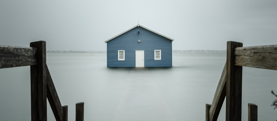 My first visit to Perth's Blue boat house