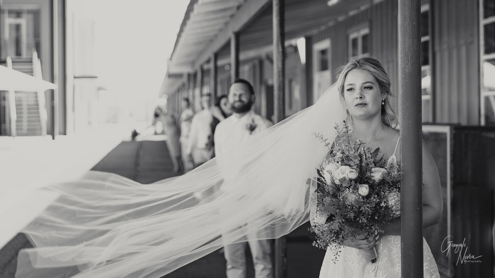 Perth Wedding Photographer, Wedding Portraits - Gonzalo Novoa Photography at Slip Street, Fremantle WA