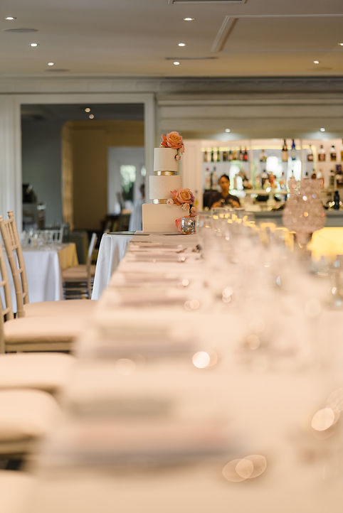 Wedding details at Caversham House colou
