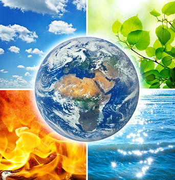 Composition of the four natural elements