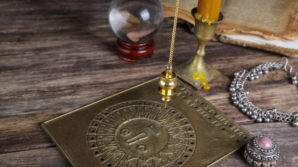 Pendulum & 1 Tarot Card