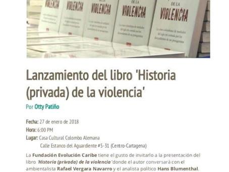 Lanzamiento del libro 'Historia (privada) de la violencia'