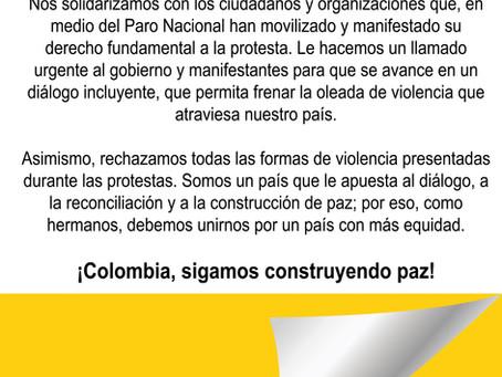 ¡Colombia, sigamos construyendo paz!