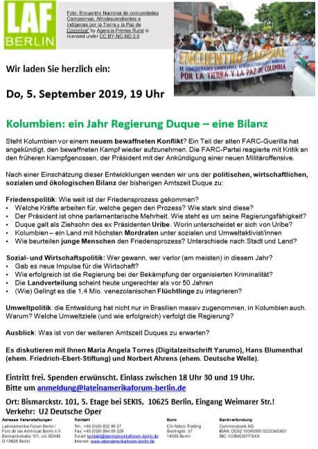 LAF Balance Gobierno Duque - Sep 2019