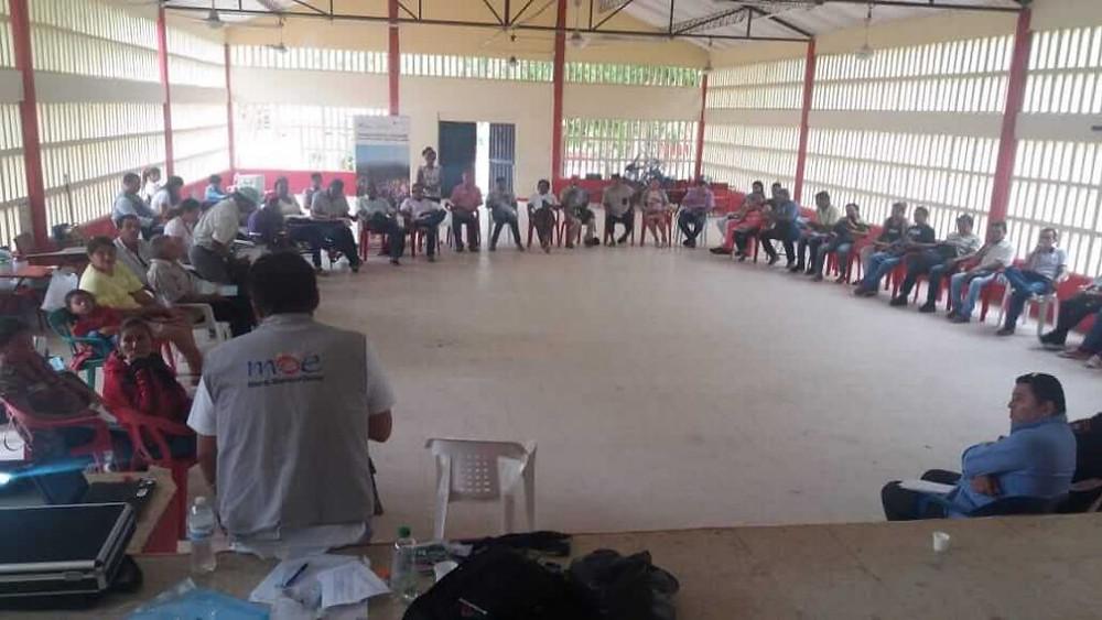 MOE apoya organizaciones Montes de María - Mayo 2019