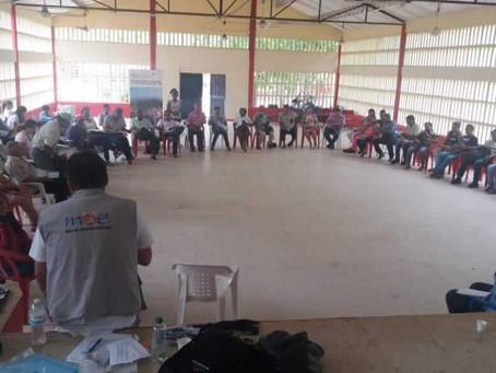 La MOE apoya pedagogía con organizaciones en Montes de María