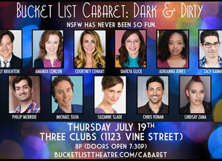 BWW Review: A Great Evening of DARK & DIRTY Ditties by Bucket List Cabaret at Three Clubs