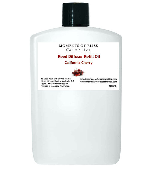 Reed Diffuser Oil Refill - California Cherry