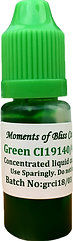 Cosmetic Water Based Liquid Dye - 10mL - Green