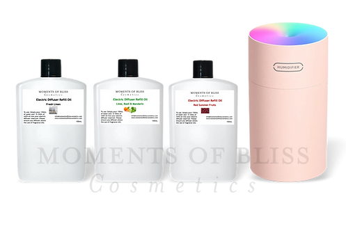 Pink Electric Diffuser Bundle (Supplied with 3 x 100mL Refills)