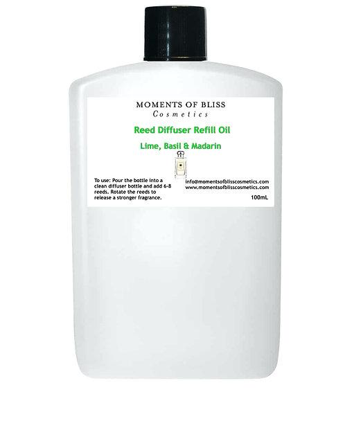 Reed Diffuser Oil Refill - Lime Basil & Mandarin