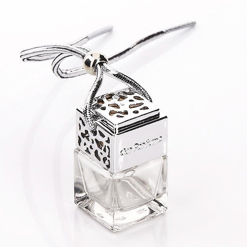 Silver Car Diffuser Bottles With Fragrance (Packs of 4)