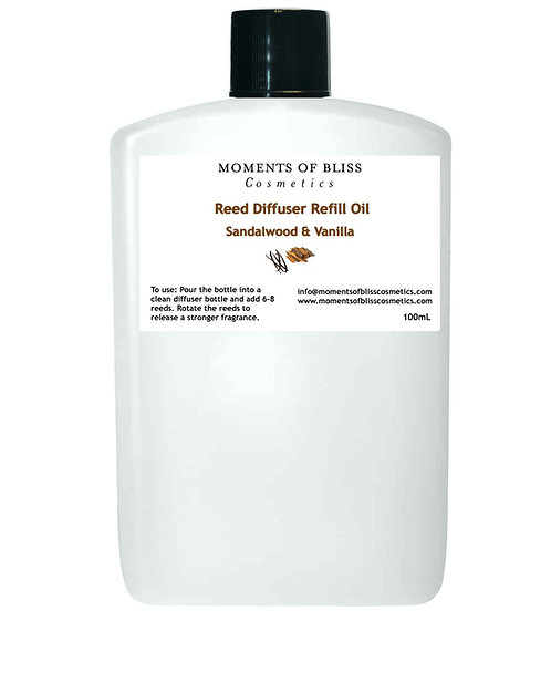 Reed Diffuser Oil Refill - Sandalwood & Vanilla